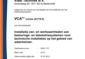 VCA** certificaat